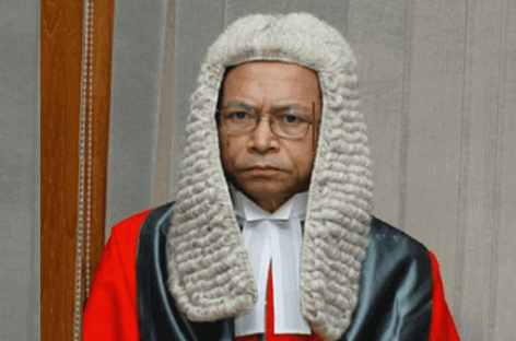 Chief justice stepped down